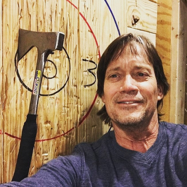 Kevin Sorbo as seen in April 2018 at the Civil Axe Throwing, Huntsville
