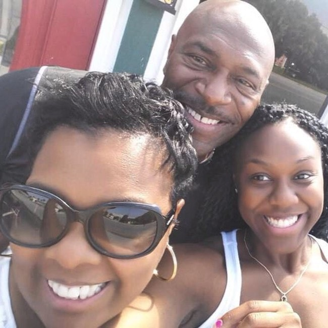 Lee Haney with his family as seen in August 2015