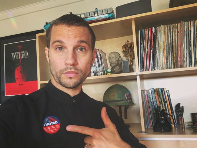 Logan Marshall-Green in a selfie as seen in November 2018
