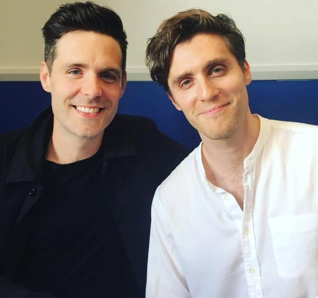 Luke Norris (Left) as seen in a picture with his 'Poldark' co-star, Jack Farthing