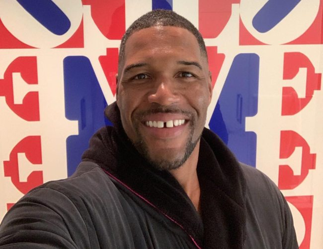 Michael Strahan in a selfie as seen in January 2019