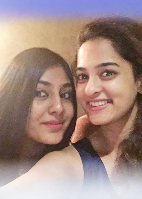 Nanditha Raj as seen in a throwback selfie taken with her bestfriend