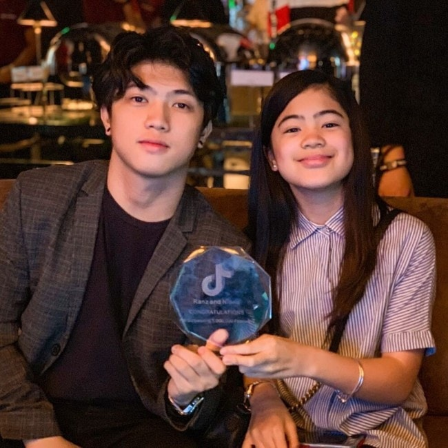 Niana Guerro with her brother Ranz Kyle as seen in February 2019