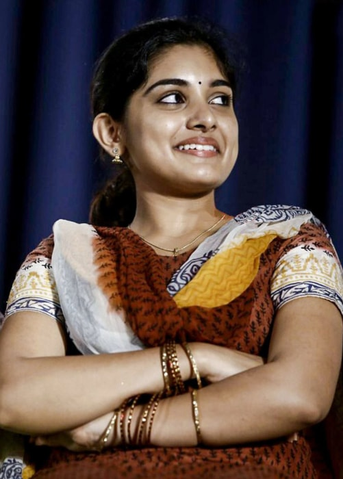 NivethaThomas at Papanasam Success Meet in July 2015