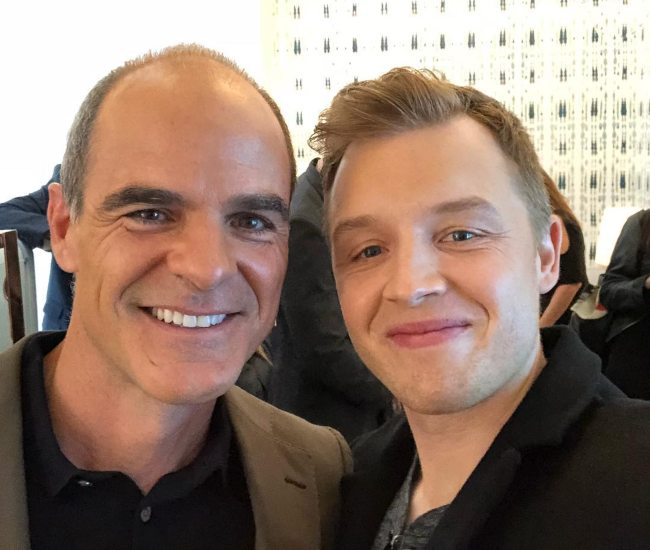 Noel Fisher (Right) and Michael Kelly as seen in November 2017