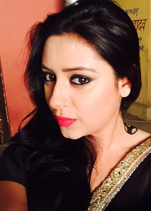 Pratyusha Banerjee as seen in a selfie taken in August 2015