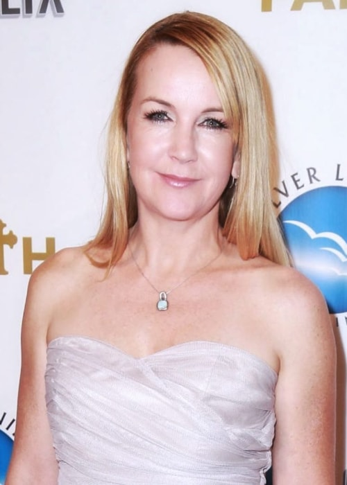 Renee O'Connor as seen in a picture taken at the movie premier for A Question Of Faith in September 2017