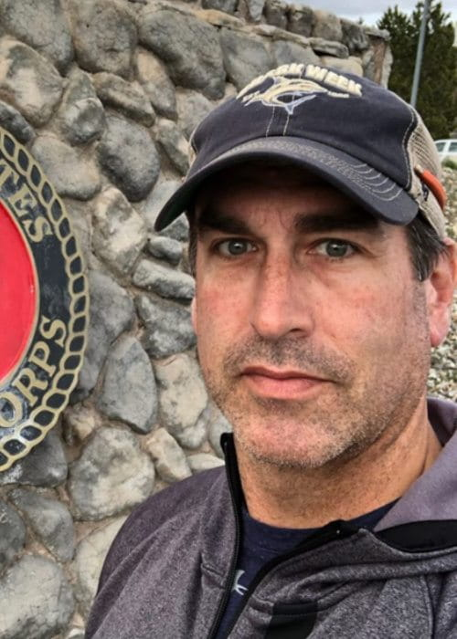 Rob Riggle in an Instagram selfie as seen in May 2019