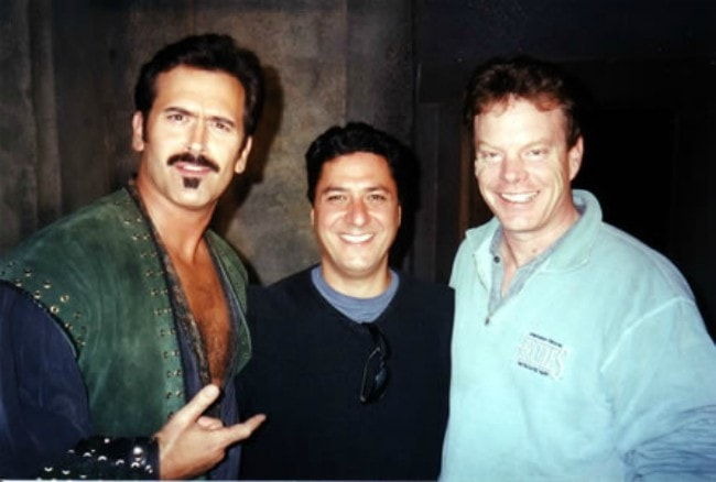 Robert Tapert (Right), Joe LoDuca (Center), and Bruce Campbell (Left) during an event