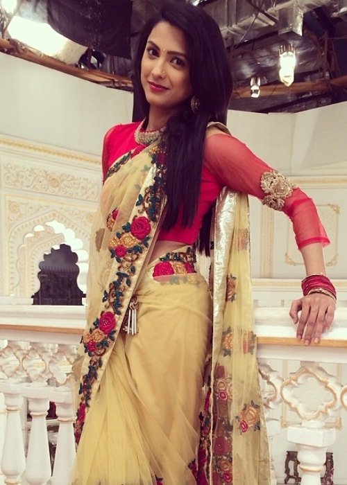 Rucha Hasabnis as seen in a picture taken in April 2014 on the set of Saath Nibhaana Saathiya