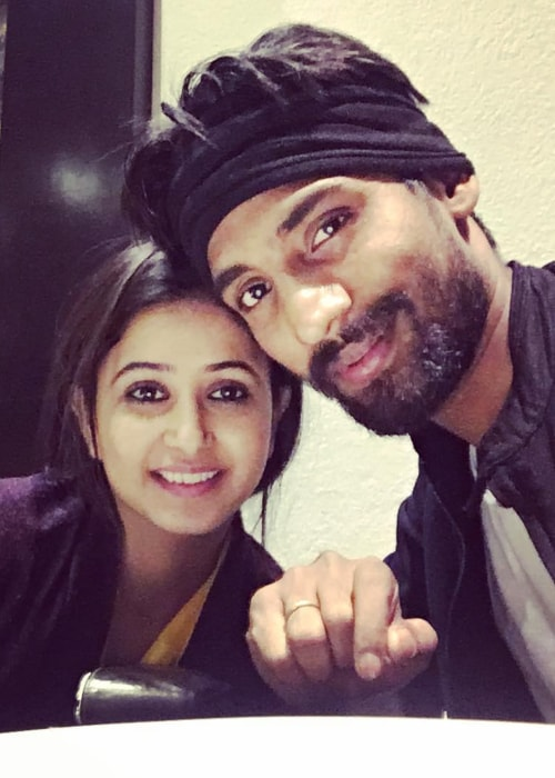 Sana Amin Shaikh as seen in a selfie with her husband TV show director Aijaz Sheikh in December 2016