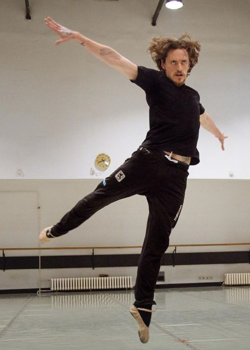 Sergei Polunin during his dance rehearsal as seen in May 2019