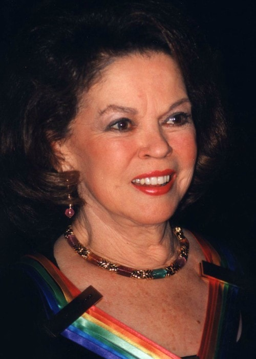 Shirley Temple during an event as seen in 1998