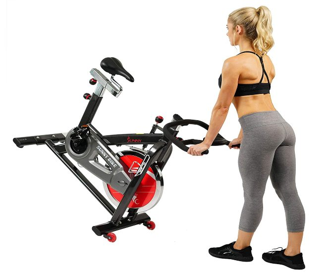 Sunny Health & Fitness SF-B1002 Belt Drive Indoor Cycle Bike