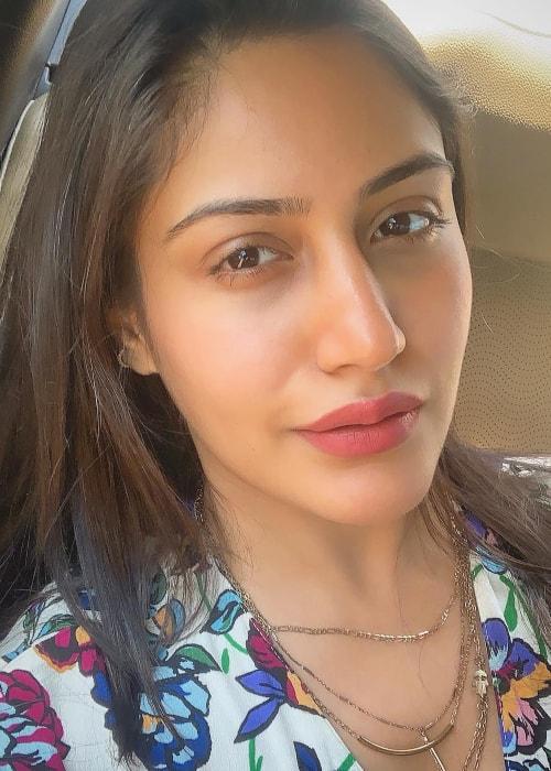 Surbhi Chandna as seen in a selfie taken in Worli, Mumbai, Maharashtra in April 2019
