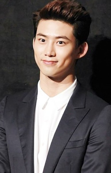 Taecyeon as seen at the VIP premiere of the movie Marriage Blue in July 2013
