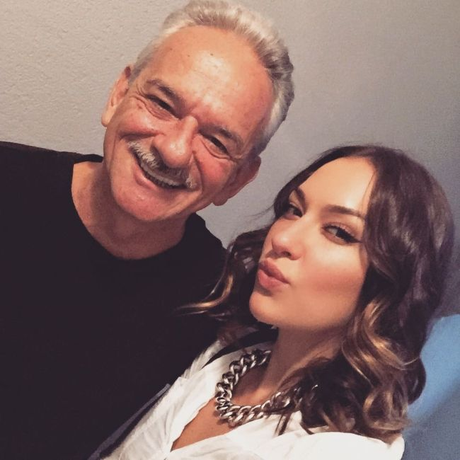 Tasya posing with her dad Lucio Teles in August 2016