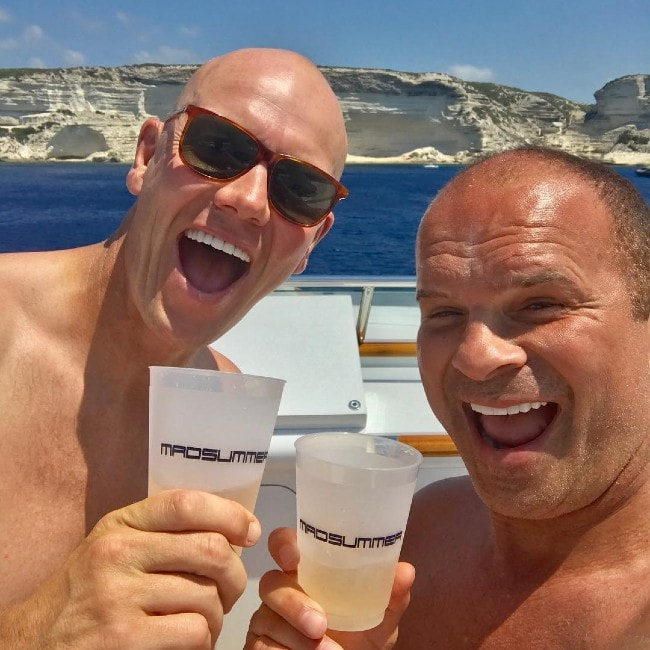Tie Domi with his friend at the Bonifacio Citadel as seen in August 2017
