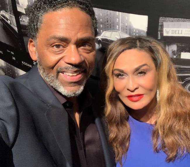 Tina Knowles as seen while posing in a selfie with Richard Lawson in April 2019