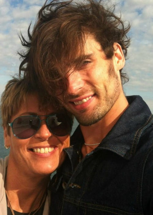 Tyson Ritter in a selfie with his mother as seen in May 2018