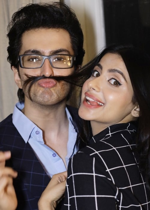 Vibhav Roy as seen in a picture with actress Subha Rajput in July 2019