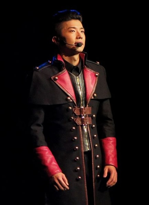 Wooyoung as seen at the Go Crazy World Tour in United States in November 2014