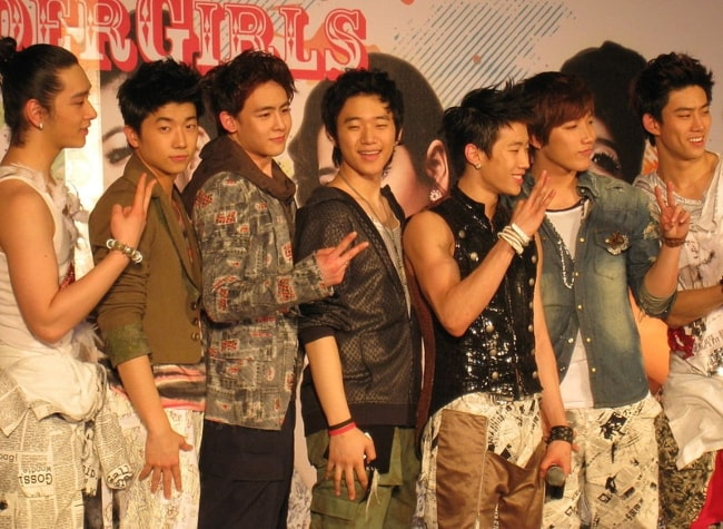 2PM as seen at press conference of Wonder Girls The First Wonder Live In Bangkok in February 2009