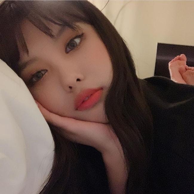 Ahin as seen in an Instagram selfie in June 2019