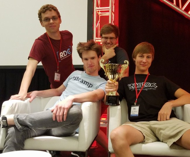 Alex Balfanz (Right) with his friends during a video game competition