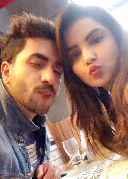 Aly Goni as seen in a selfie with Jasmin Bhasin taken in August 2018