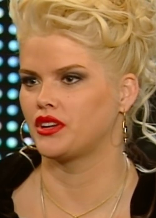 Anna Nicole Smith during an interview as seen in May 2002