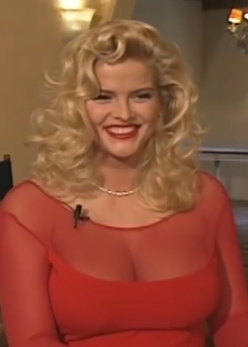 Anna Nicole Smith during an interview
