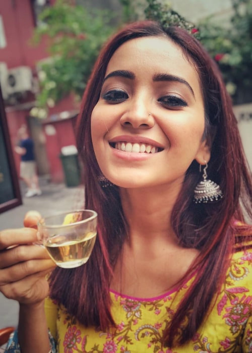 Asha Negi as seen in a selfie taken in March 2018