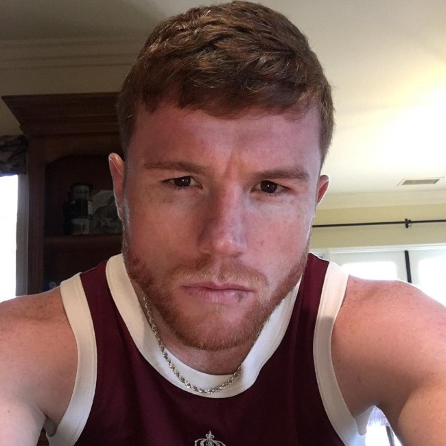 Canelo Álvarez as seen in October 2016