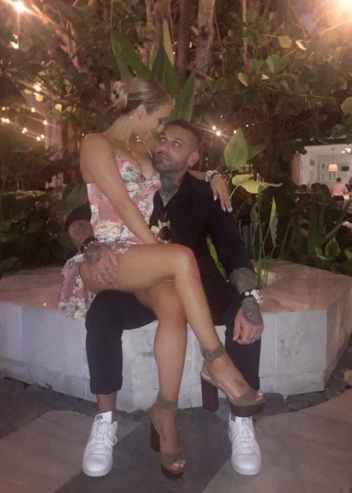 Carmella with her boyfriend as seen in July 2019