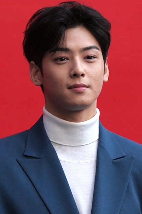 Cha Eun-woo as seen while attending the 2019 Spring Summer Hera Seoul Fashion Week on October 19, 2018