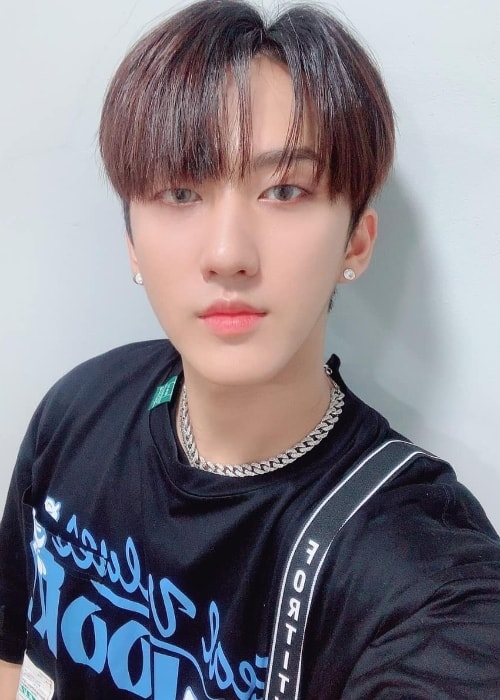 Changbin as seen while posing for a selfie in July 2019