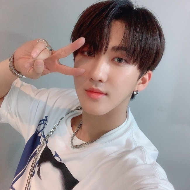 Changbin as seen while taking a selfie in June 2019