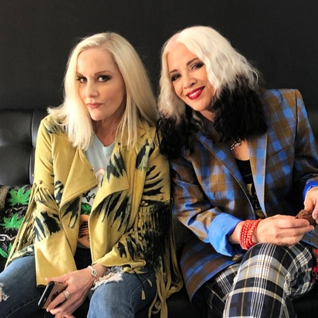 Cherie Currie with Brie Darling as seen in July 2019