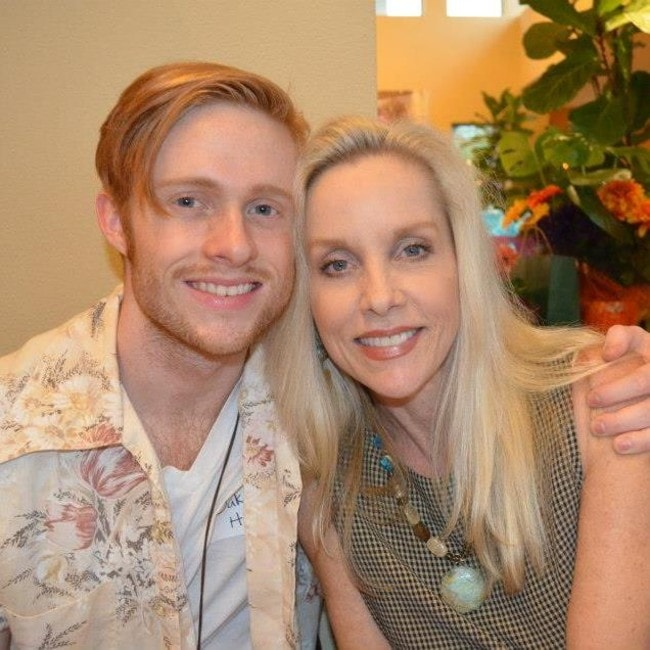 Cherie Currie with her son as seen in October 2014