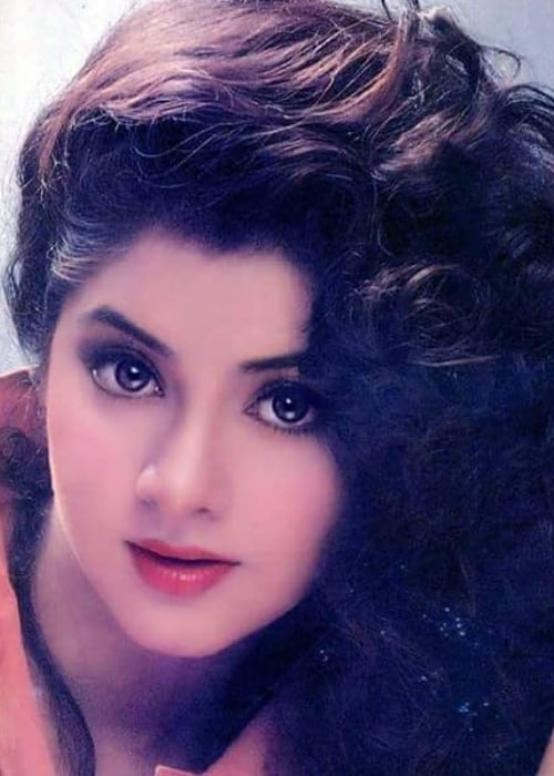 Divya Bharti as seen in a close up picture