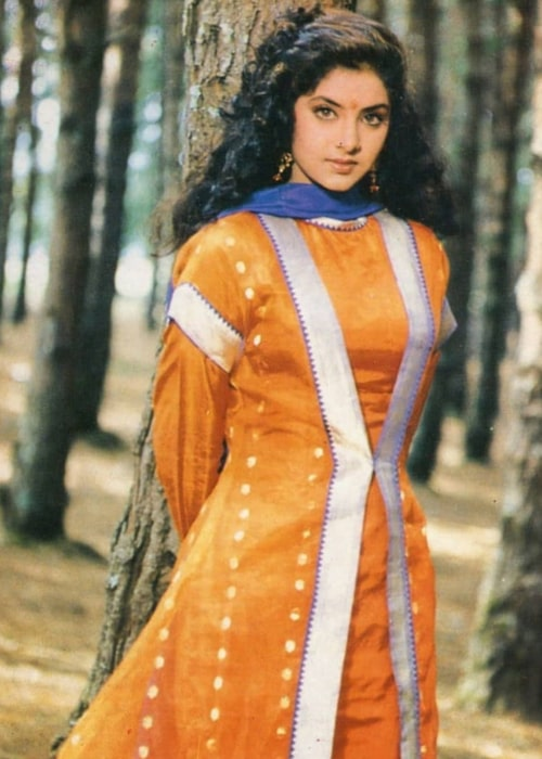 Divya Bharti as seen in a picture taken back in the '90s