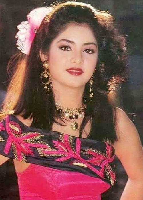 Divya Bharti as seen in a picture taken during the '90s