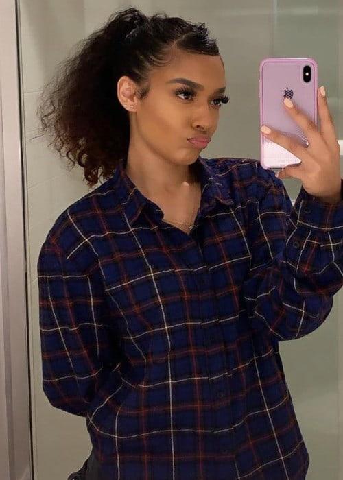 Emaza Dilan in a selfie as seen in July 2019