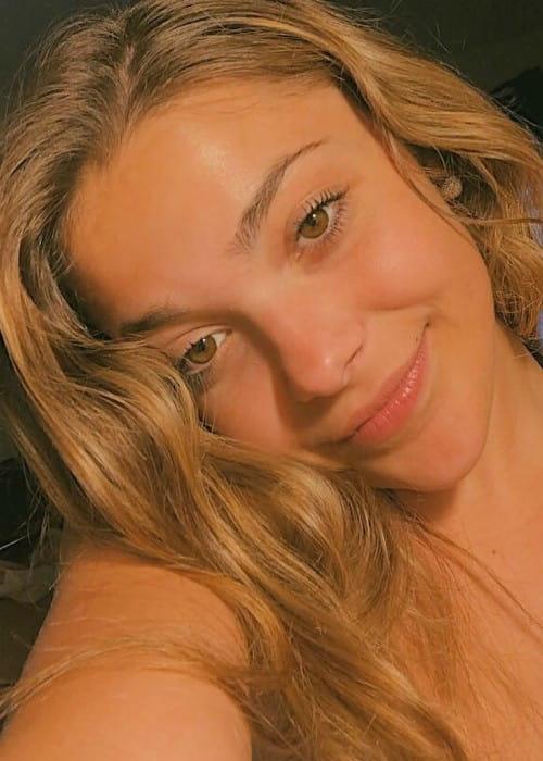 Erica Delsman in an Instagram selfie as seen in July 2019