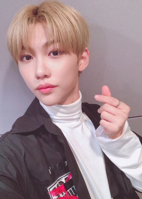 Felix as seen while clicking a selfie in July 2019