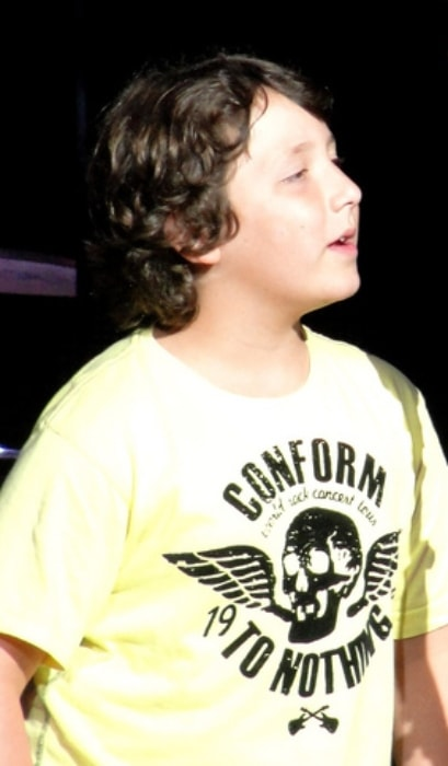 Frankie Jonas as seen in a picture taken during the Jonas Brothers Live In Concert in September 2010