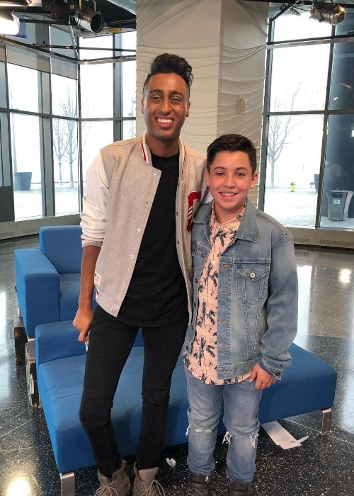 Freddy Pomee (Right) as seen while posing for a picture along with Mark Suki in Toronto, Ontario, Canada in February 2018