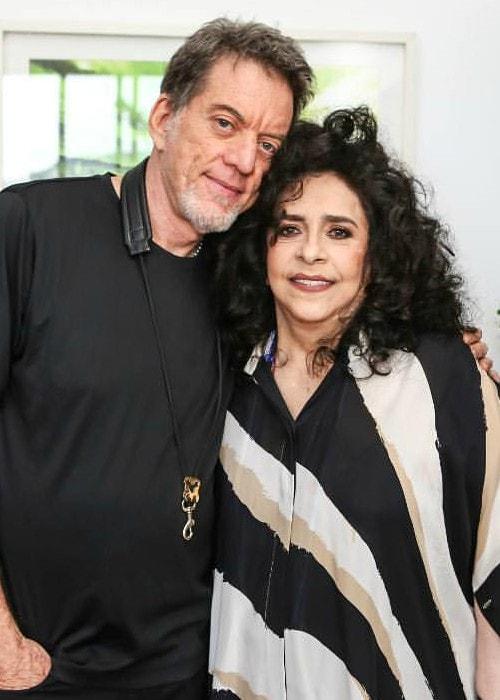 Gal Costa and Leo Gandelman as seen in July 2019