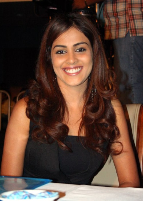 Genelia D'Souza posing at Calantha 2008 in Hyderabad in May 2008